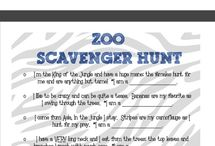 Safari Scavenger Hunt