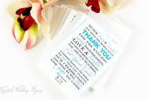 Advice Cards & Thank You Cards / Handmade wedding cards