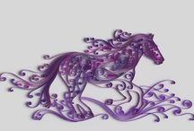 Quilling heste