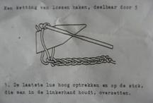 Crochet - Stokhaken  - broomstick lace / Stokhaken, bezemsteelbreien, broomstick crochet, broomstick lace