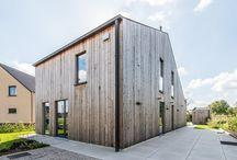 lage-energiewoning in Wespelaar door ARKANA / Unieke architectuur, met houten gevelbekleding