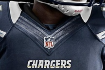Nike Unis / The color scheme of the Chargers uniforms will not change but the technology behind the uniforms will. / by San Diego Chargers