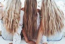 Песок длинные волосы