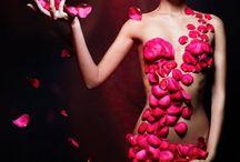 květiny na těle