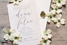 Invitations to the wedding and printed products