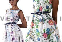 Vestito vestitini donna sexy vestitino fiori mini abito floreale miniabito Vs27
