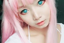 Zero Two cosplay makeup