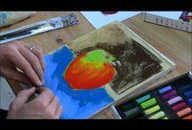 Peintures pastel sec