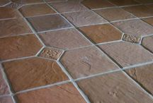 Cement Tile DIY Made at Home / Here are examples of 12x12 inch cement floor tile you can make at home for about 28-cents a square foot. Great for home improvement projects like floors, patios, pool decks, counter tops, and walls. You're limited only by your imagination. Everything needed to make custom tile including molds, color, instructions, and more are on our www.TheMoldStore.us website. / by Olde World Stone & Tile Molds, Inc.