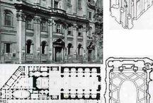 """Borromini Francesco.  Bissone 1599-Roma 1667 / """"il lessico architettonico di Borromini, pur desunto in gran parte da Michelangelo e dall'antico, appare incomparabilmente più personale, originale e innovativo di quello del Bernini"""""""