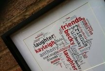 WordHearts / Personalised frames using words that are special to your family.