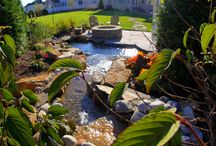 Water Features / Relax your body and mind to the calming sounds of water trickling down your exotic waterfall or the quiet splashing of the fountain in your coy pond. The tranquil sounds of nature's music are brought right into your yard by incorporating a water feature into your unique design.