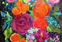 Sal cu flori abstract