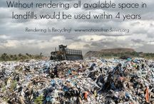 Rendering Infographics / Rendering is recycling, the original recyclers.  We use products that could be wasted and reinvent them into ingredients for livestock feed, aquaculture feed, pet food, and biodiesel, among dozens of other uses.