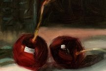The Chubby Cherry / I have declared July - Cherry Month - for my painting inspiration.  You can view my paintings at http://etsy.com/shop/CynthiaHaaseFineArt
