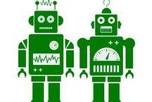 Robots silhouette