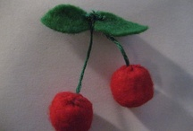 felt foods - cherries
