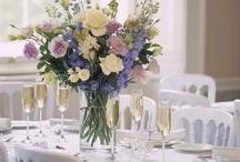 Jeni & Tony / May 2014 powder blues, creams and whites with navy bridesmaids dresses and lots of pearls and lace