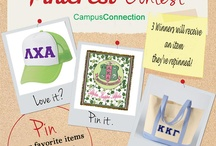Campus Connection's Greek Pin it and win it! / To enter: 