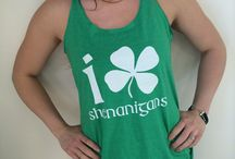 Saint Patrick's Day / Shenanigans, Shamrocks, Drinking Shirts, Green, Kiss Me, I'm Lucky