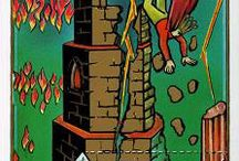 XVI The Tower Tarot Card / A selection of tarot cards that represent The Tower.