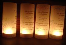 Tischkarte Windlicht