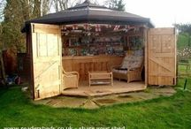 Bottom of the garden / Deck and shed ideas