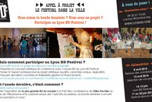 Lyon BD Festival / J'ai eu l'occasion de réaliser des supports graphiques web et print pour le Lyon BD Festival et l'Office de Tourisme de l'Ouest des Vosges. Un travail de mise en valeur des informations dans un lapse de temps parfois réduit.  #TrouvezLucie