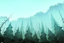 Trees - árboles - alberi - arbres - árvores / illustrations and pictures depicting trees.