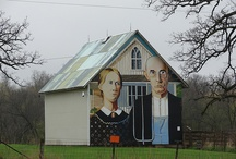 Murals along the Lincoln Highway