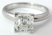 Asscher Cut Diamond Engagement Rings / Asscher Cut Diamond Engagement Rings
