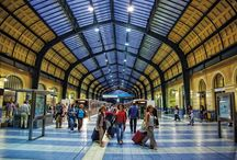 Electric Railway Station / The Piraeus-Athens Electric Railway Station was constructed around 1926-1929 by the architect Ioannis Axelos, replacing the existing station. Its magnificent, eclecticist structure was a creative adaptation of European models to the Greek conditions of the time. This is a metallic, riveted, articulated structure with a transparent roof.