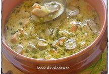 Kaja/tejszines/tárkonyos Csirkeragu leves