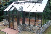 Växthus/orangeri / Drivhus/orangeri i olika typer