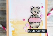 products: mama elephant- carnival cupcake