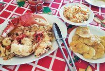 Flavors of Roatan / Seafood, Soup,  Coconut Bread, banana bread, Conco Fritters, Monkey Lala,
