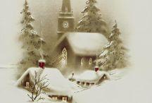 přáníčka vánoce a PF / obrázky na přání vánoční a novoroční