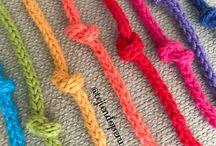 cordones crochet