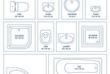 Maten interieur / Handige maten en weetjes voor het ontwerpen van interieurs.