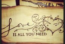 Wood burned, pyrography CP