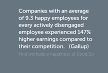 Workplace Infographics / Infographics featuring facts, statistics and data about jobs, career, workplace, company culture and workplace happiness.