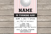 Volleyball Party Printables, Invitations & Decorations