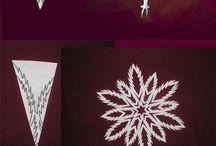 Kézműves ötletek, papír hópelyhek