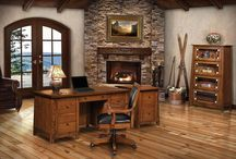 Solid wood desks / You'll have no problem staying #productive with the help of a solid #wood #Amish made desk. Built to last, you are sure to enjoy many years of use from these #handcrafted delights.