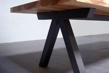 Table bois métal