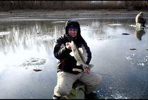 Ловля щуки и судака. Зимняя рыбалка на Нижней Волге.