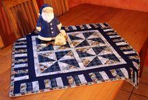 Meine Weihnachts-Quilts / Meine selbst angefertigten Weihnachts-Quilts nach Ideen von DREI-HASEN-QUILT, Edith Fiebig