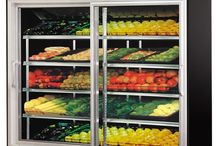 Commercial Upright Glass Door Display Fridges & Freezers / Here is a collection of commercial upright display fridges & freezers with glass doors for merchandising products