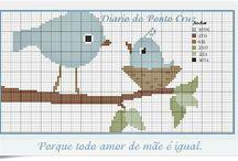 Birds crossstich