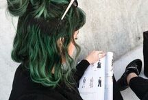 Green hair dark